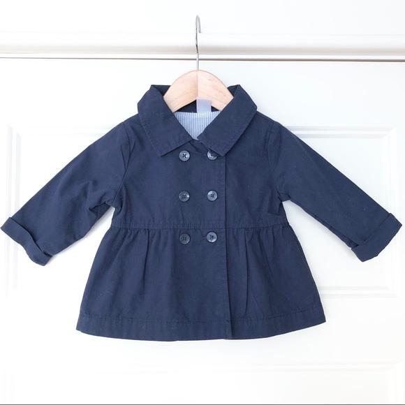 Baby Girl Navy Carter's Pea Coat - 12 Month's